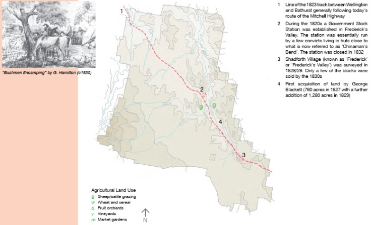 Orange NSW Land Use c1820s
