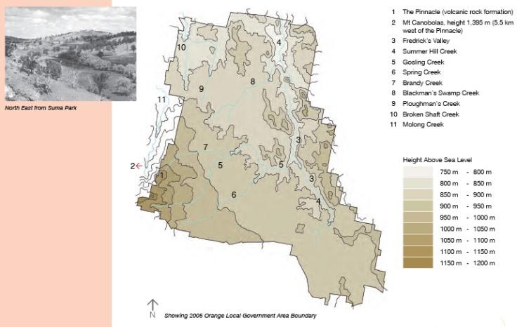 Land Use Topography Orange NSW