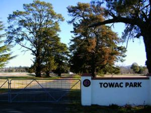 Towac Park Racecourse gate