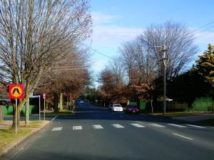 Coronation Drive near its starting point at Woodward Street